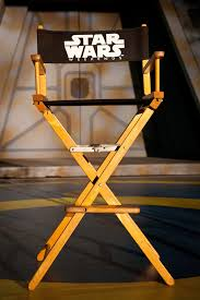 silla director con logo de star wars